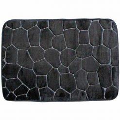 Kavics hatású fürdőszoba szőnyeg – fekete