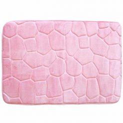Kavics hatású fürdőszoba szőnyeg - rózsaszín
